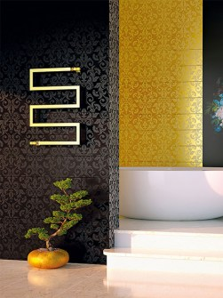 gold radiators, radiators gold, gold bathroom radiators
