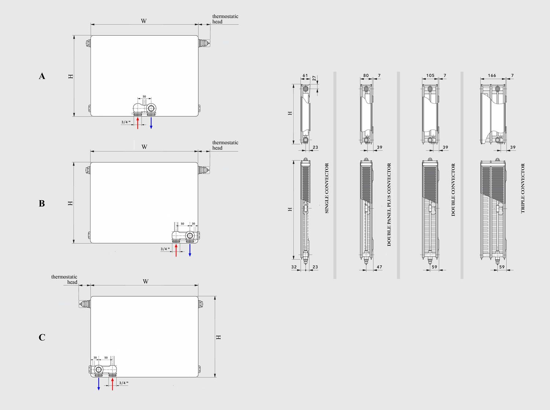 Radiadores de baixa temperatura boston radiadores dobra for Radiador dwg