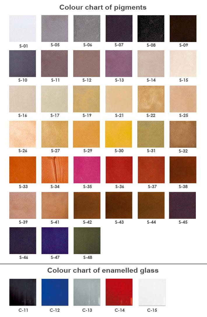kamenné farby M