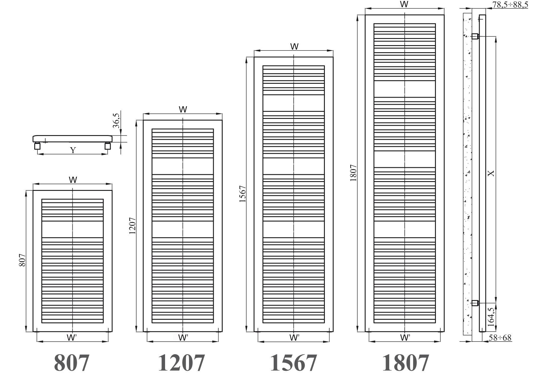 Fresco radiator chrome aquecedores de toalhas chrome for Radiador dwg