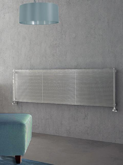 radiadores cromados, radiadores horizontales cromados, radiadores de calefacción central cromados