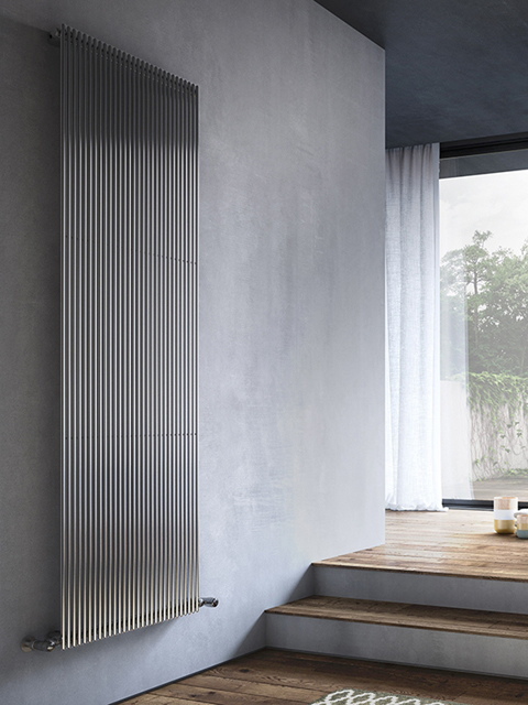 chrome radiators, chrome vertical radiators, vertical radiators