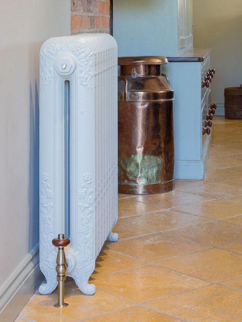 radiadores de ferro fundido, estilo retro, radiadores verdes, radiadores nostalgie,