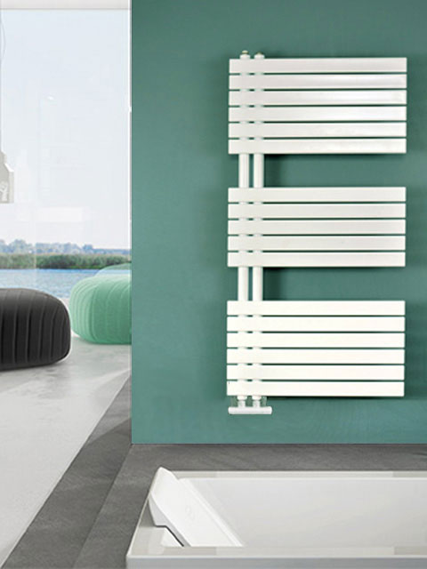 bathroom radiator, asymmetric radiator, towel radiators, electric bathroom heater