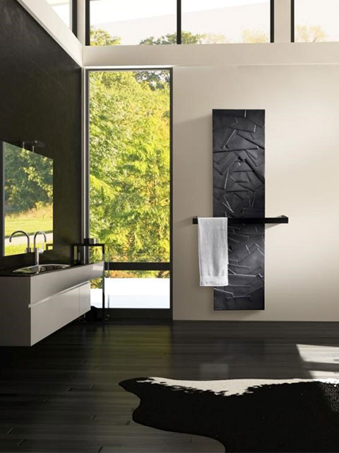 bathroom radiators, black radiators, white radiators