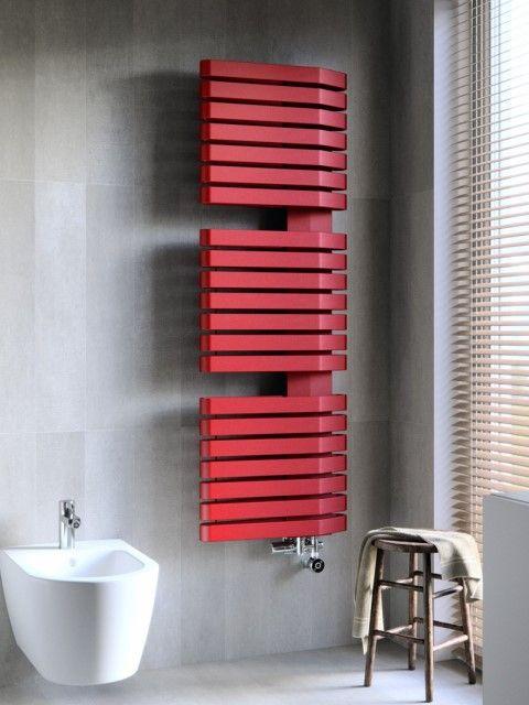 verwarmingsradiator, rode radiator, badkamerradiatoren, gekleurde radiatoren