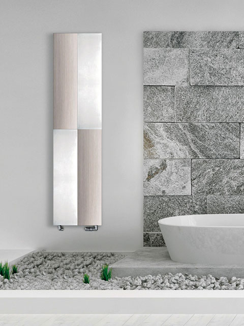 vertical aluminium radiators, silver radiators, design radiator