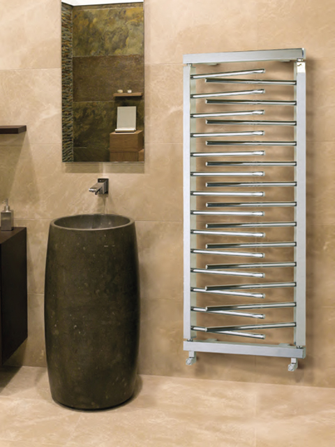 chrome tower radiators, bathroom radiator chrome,