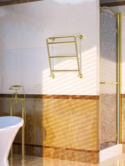 hotellin lämpöpatterit, kylpyhuoneen patterit, klassinen jäähdytin, kultainen jäähdytin