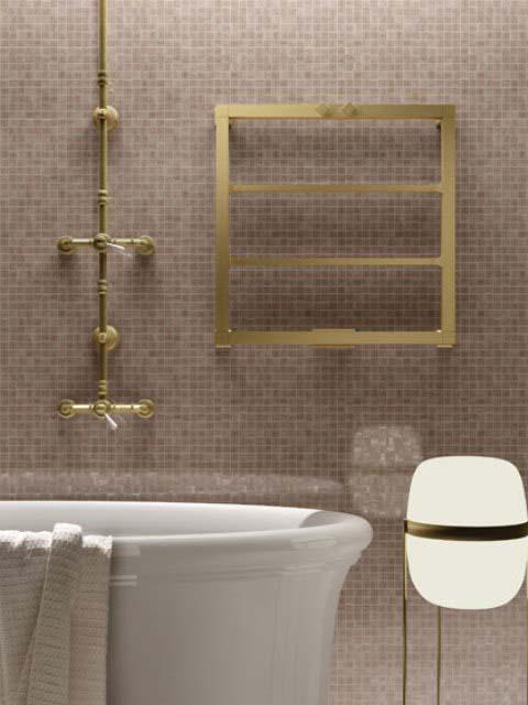 radiador de baño exclusivo, radiador de toallas, radiadores de cobre, radiadores de latón, radiadores de oro