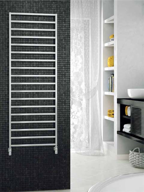 ladder heated towel rails, contemporary towel radiators, chrome radiator, chrome radiators