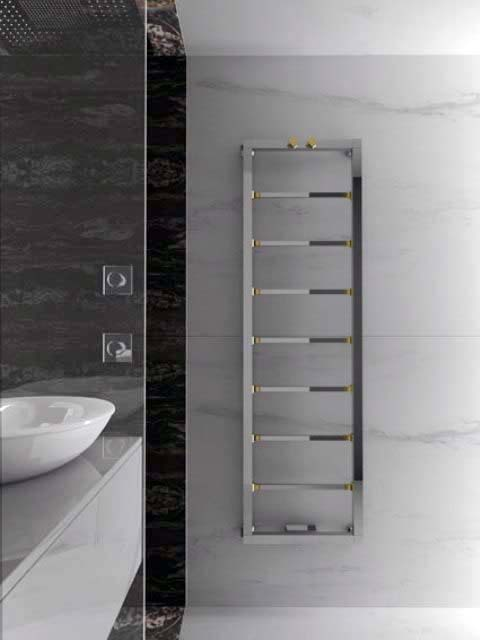 decorative bathroom radiator, luxury radiator, design radiator, chrome towel radiator