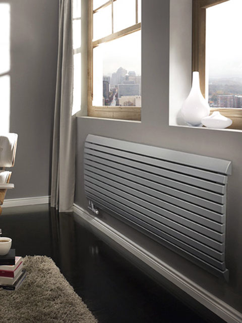 horizontal radiators, room radiators, beige radiators, cream radiators