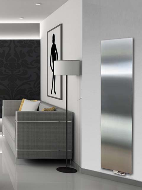 stainless steel radiators, vertical radiators, flat radiators, exclusive radiators