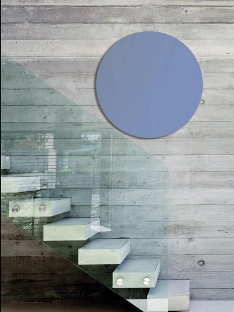 elektrický radiátor, zrcadlový radiátor, moderní chladič, světle modré radiátory