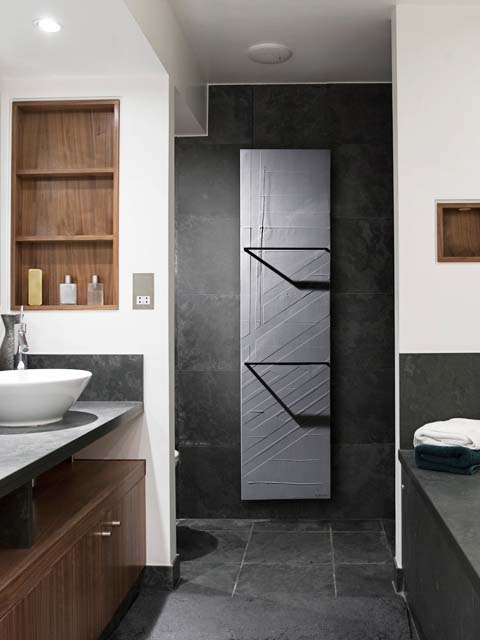 stone radiator, handmade radiator, grey radiators, bathroom radiator
