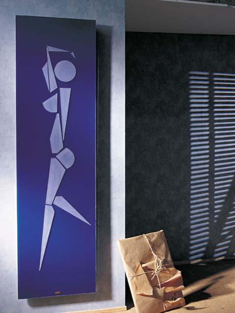 каминен радиатор, дизайнерски радиатор, сини радиатори, изключителен радиатор в стаята