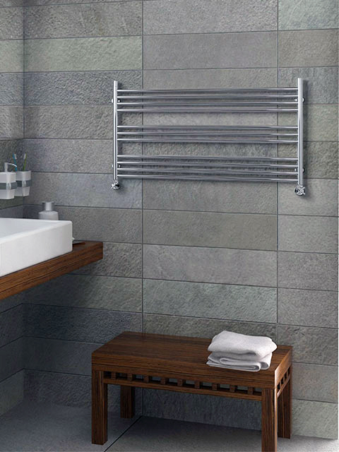 Inox radiator, bathroom radiator, horizontal radiators