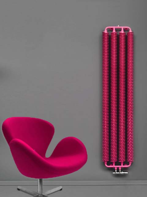 retro radiators, industrail style radiators, pink radiators, red radiator