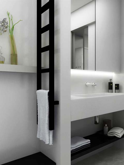 narrow bathroom radiator, ladder radiator,