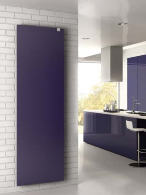 vertical flat radiators, flat radiators, blue radiators, smoot radiators