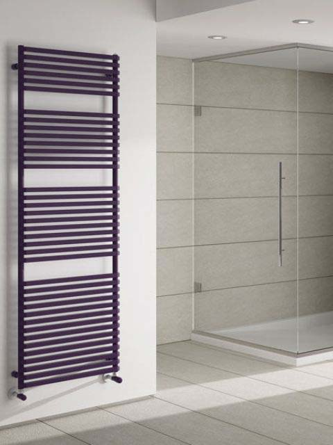 towel radiators, bathroom radiator, purple radiator, modern bathroom