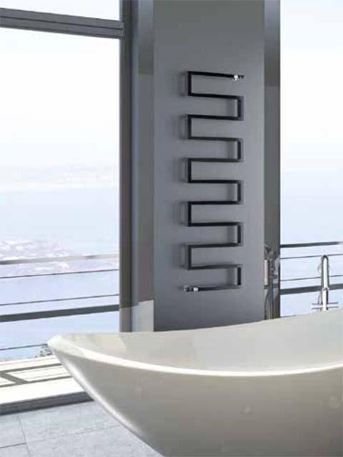 зміяний радіатор, унікальні радіатори, радіатори для ванної кімнати, радіатори з антрацитними рушниками