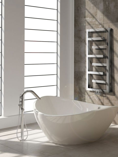 chrome radiators, inox radiators, bathroom radiators, modern heated towel rails