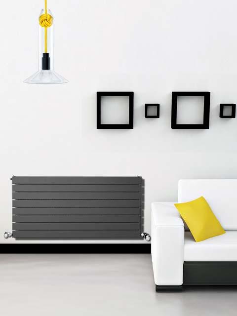 radiadores cinzentos, radiadores horizontais, radiadores domésticos