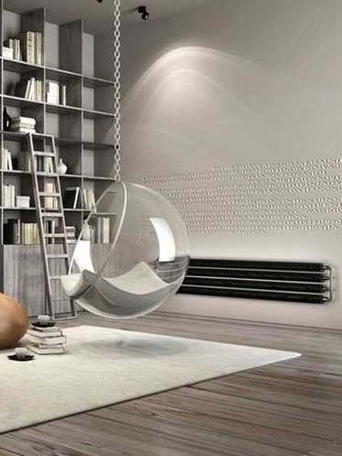 industrial style radiators, retro radiators, floor standing radiators, dark radiator