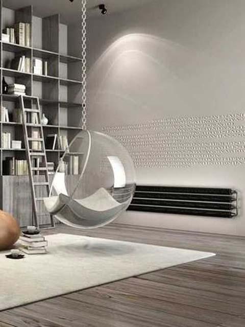 industriële stijl radiatoren, retro radiatoren, vloerstaande radiatoren, donkere radiator