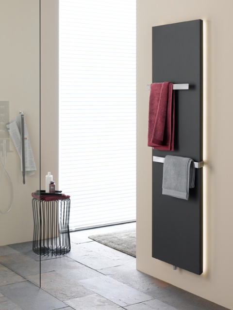 Flat bathroom radiators, vertical bathroom radiators, radiator with LED