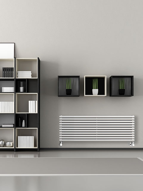 coloured radiators, fancy radiators, tubular radiators, horizontal radiators