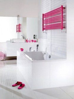 Radiadores de baño, radiadores de toallas, radiadores largos, radiadores rosas