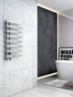 modern towel radiator, chrome bathroom radiator, unusual towel radiator, radiator