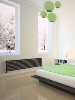 ontwerpradiatoren, radiatoren met centrale verwarming, buisvormige radiatoren, horizontale radiatoren