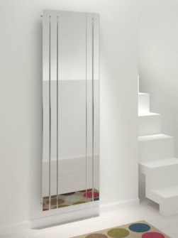 mirror radiators, chrome radiators, vertical radiators, tall radiators