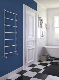traditional electric towel warmers, chrome radiators, chrome bathroom radiators