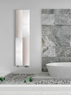 radiateurs en aluminium verticaux, radiateurs en argent, radiateurs en aluminium modernes, radiateur design