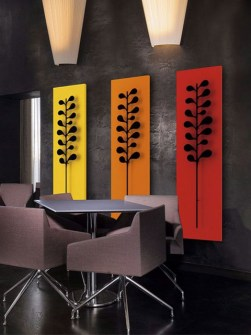vertical radiators, aluminium radiators, unusual radiators, orange radiators