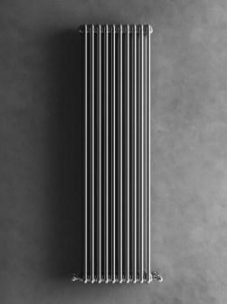 Chromový radiátor, designový radiátor, luxusní radiátor, sloupkový radiátor, stříbrný radiátor