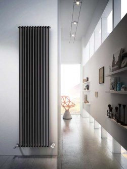 aluminium radiators, tall radiators, coloured radiator, anthracite radiators, vertical aluminium radiators
