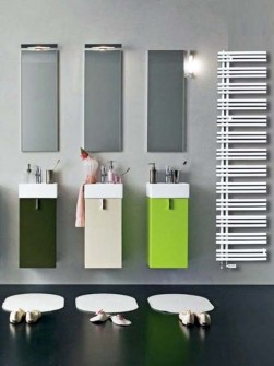 design bathroom radiator, asymmetric radiator, towel radiator, coloured towel radiators
