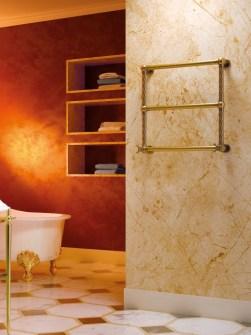 radiadores de oro, radiadores, radiadores de diseño exclusivo, calentador de toallas,
