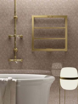 exclusive bathroom radiator, towel radiator, copper radiators, brass radiators, gold radiators