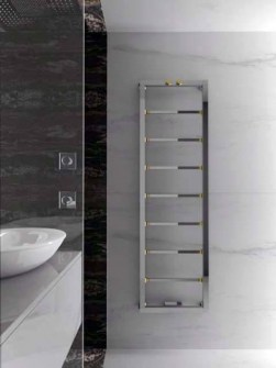 radiador de baño decorativo, radiador de lujo, radiador de diseño, radiador de toalla cromada