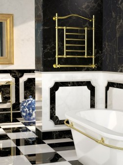 gold radiators, luxury radiators, electric radiators, bathroom radiator,