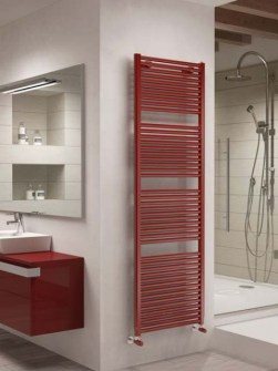 coloured towel radiators, red towel radiator, towel radiators
