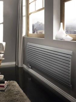 горизонтальні радіатори, кімнатні радіатори, бежеві радіатори, кремові радіатори