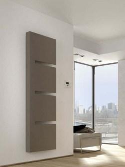 radiadores modernos, radiador cinzento, radiadores dados forma, radiador do projeto